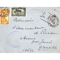1927 Lettre avion en FM à 80 c. CASABLANCA MAROC