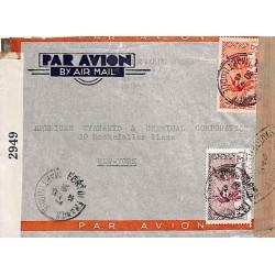 1942 Lettre à 8 f. pour les...