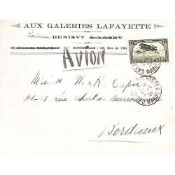 1924 Lettre Affranchissement 75 c. CASABLANCA-POSTES  MAROC
