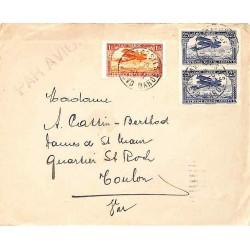 1930 Lettre avion à 1 f. 50 CASABLANCA-POSTES MAROC
