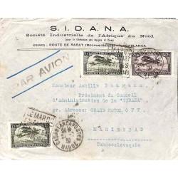 1930 Enveloppe avion pour la Tchécoslovaquie