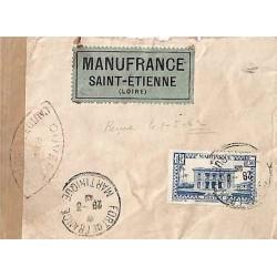 1942 Lettre à 16 f. pour la...