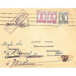 1946 imprimés par avion pour la France à 1 f.
