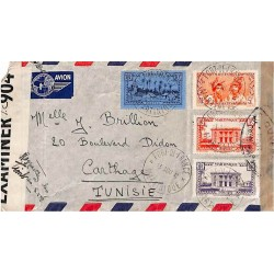 1942 Lettre à 17 f. 50 pour...