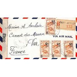 1942 Lettre à 20 f. pour la...