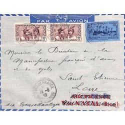 1940 Lettre à 16 f. pour la...
