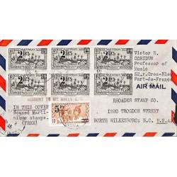 1945 Lettre à 13 f. avion...