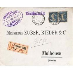 1920 Lettre recommandée...