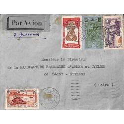 1936 lettre avion 4 f. 50...