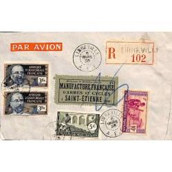 1938 lettre 6 f. 15  avion...