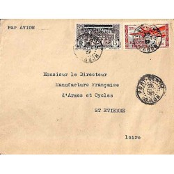 1937 lettre 4 f. 65  avion...