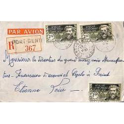 1937 lettre 6 f. par AEF 57...