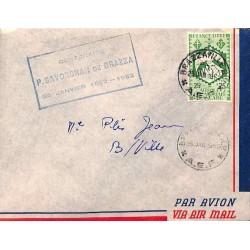 CENTENAIRE P. SAVORGNAN DE BRAZZA 25 JANVIER 1852-1952  on cover