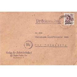 1949 imprimés 6 pf. Oblitération BADEN-BADEN-OOS