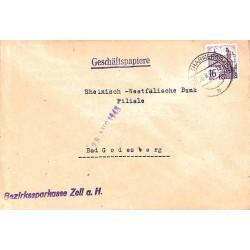 1948 Lettre 16 DPf.  Oblitération ZELL (HARMERSBACH)