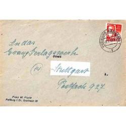 1948 Lettre Affranchissement 12 Pf.  FREIBURG (BREISGAU)