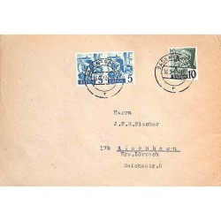 1949 Lettre Bade 30 (x2) 33...