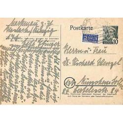 1949 Entier carte postale Bade 10 pf