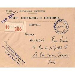 EXPLOITATION POSTALE DE L'A-E-F  1957