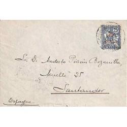 1913 Lettre pour l'Espagne...