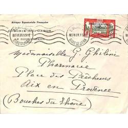 1931 Lettre Oblitération mécanique à l'arrivée BORDEAUX GARE ST JEAN