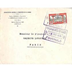 1935 Lettre Oblitération CHARGEURS REUNIS FOUCAULD