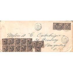 1892 Enveloppe longue pour...