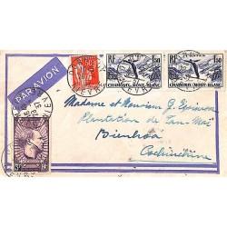 1937 - Lettre par avion de...