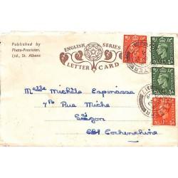 1949 - Letter Card du Royaume Uni pour Saigon