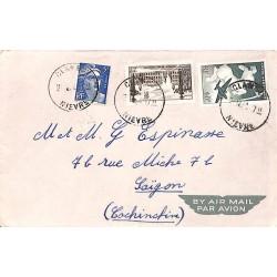 1948 - Lettre par avion de France pour Saigon
