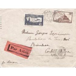 1933 Lettre de France pour Bienhoa à 6 f. 50