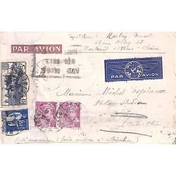 1938 Lettre de France pour Saigon à  6 f. 90