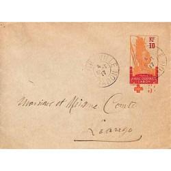 1917 Entier enveloppe à 10 c avec surcharge Croix-rouge