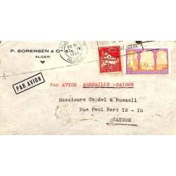 Enveloppe avion pour Saigon Affranchissement 3 f 50 avec Algérie 55, 79A