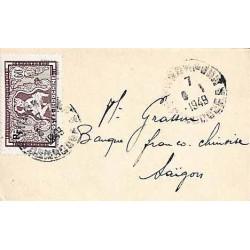 1949 Enveloppe de carte de...