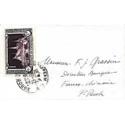 1953 Enveloppe de carte de...