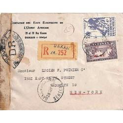 1945 Lettre avion pour les...