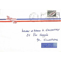 Enveloppe avion pour la France Oblitération mécanique DJIBOUTI - TER. FRs. AFARS - ISSAS