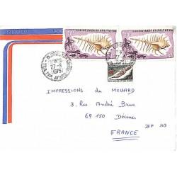 1975 Lettre Afars et Issas avec 393 (surcharge 40 f.)