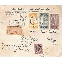 Lettre chargée 1921...