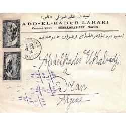 1924 Lettre pour l'Algérie...