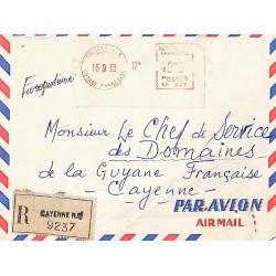 CAYENNE R.P. GUYANE FRANCAISE Affranchissement mécanique SATAS 1963