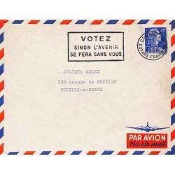 CAYENNE R.P.  VOTEZ SINON L'AVENIR SE FERA SANS VOUS 1958