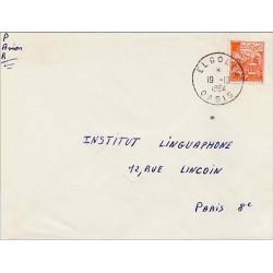 1964 EL GOLEA OASIS Oblitération sur lettre