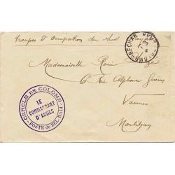1909 POSTE de BEL-HADI - CERCLE DE COLOMB - LE COMMANDANT D'ARMES