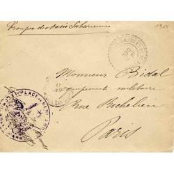 1904 PLACE DE BENI ABBES * LE COMMANDANT D'ARMES *