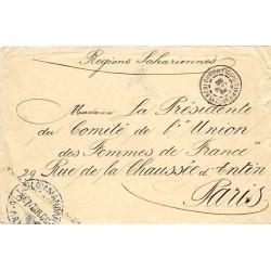 1908 CERCLE DE COLOMB - POSTE de BEL-HADI  LE COMMANDANT D'ARMES