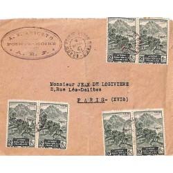 1947 Lettre 9 f. par AEF...