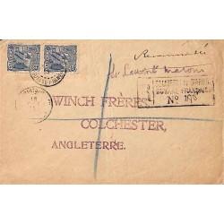 1914 Lettre recommandée pour la Grande-Bretagne de St LAURENT DU MARONI