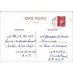 Carte postale interzones Pétain 1 F 20